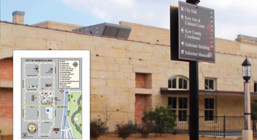 civic wayfinding project in texas