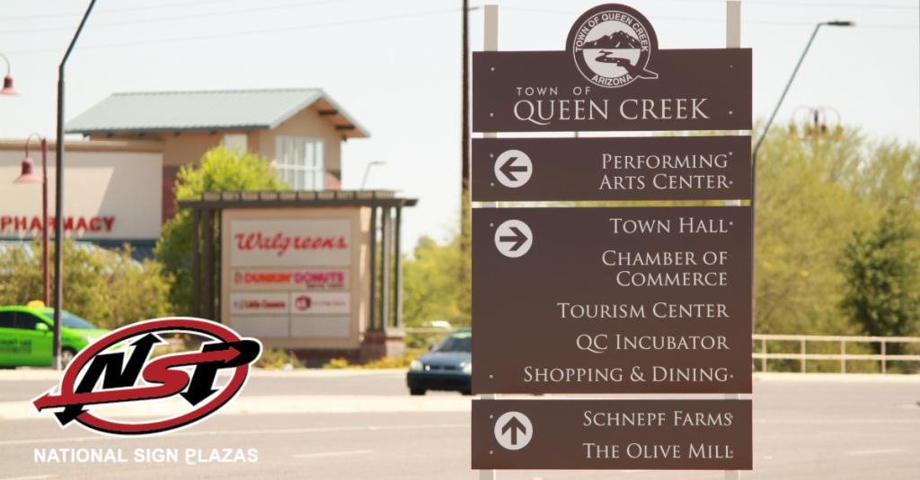city wayfinding sign in arizona
